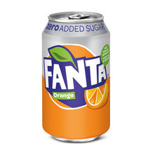 Fanta - orange zero 33cl blik - 24 blikken