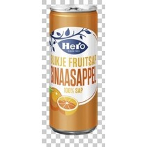 Hero - sinaasappelsap 25cl blik - 24 blikken