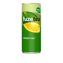 Fuze - tea green 25cl blik - 24 blikken