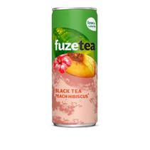 Fuze - tea peach hibis 25cl blik- 24 blikken