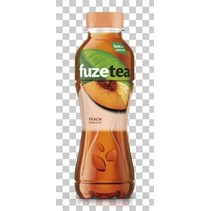 Fuze - tea black peach 40cl pet - 12 flessen