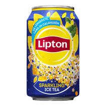 Liptonice - ce tea sparkling 33cl blik - 24 blikken