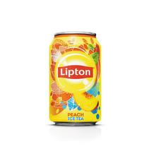 Liptonice - ce tea peach no bub 33cl blik- 24 blikken