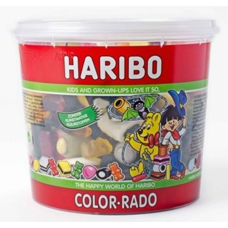 Haribo Haribo - Cons.Silo Colorado 650G, 6 Silo