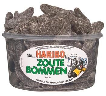 Haribo Haribo - Drop Zoute Bommen, 150 Stuks