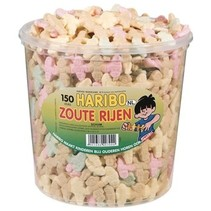 Haribo - schuim zoute rijen - 150 stuks