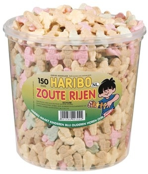 Haribo Haribo - schuim zoute rijen - 150 stuks