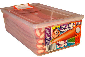 Sanchez Cano Sanchez Cano - Jumbo Sticks Fizzy Strawberry, 40 Stuks