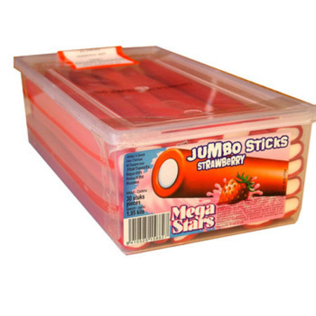 Sanchez Cano Sanchez Cano - Jumbo Sticks Strawberry, 40 Stuks