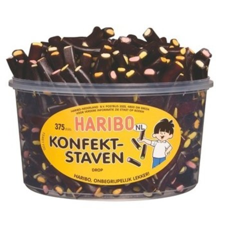 Haribo Haribo - Drop Konfektstaven Klein, 375 Stuks