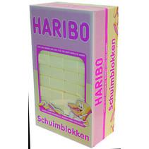 Haribo - schuimblokken vanille - 200 stuks