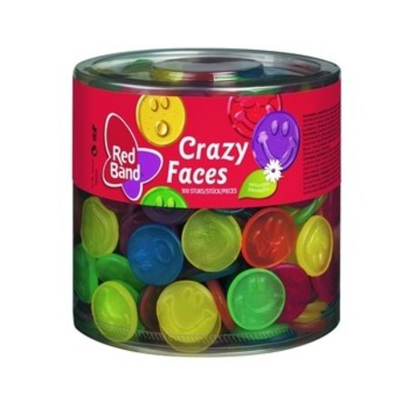 Red Band Red Band - Crazy Faces Wijngum, 300 Stuks