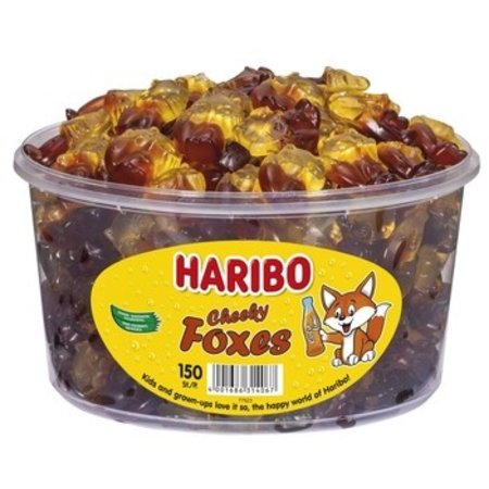 Haribo Haribo - Cheeky Foxes, 150 Stuks