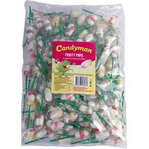 Candyman - Fruity Pops 175 Stuks, 175 Stuks
