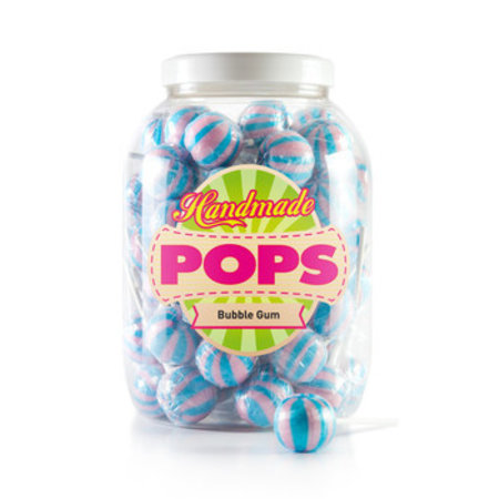 Handmade Pop Handmade Pop - handmade pop-bubble gum lolly - 70 stuks