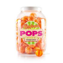 Handmade Pop - pop-orange lemon lolly - 70 stuks