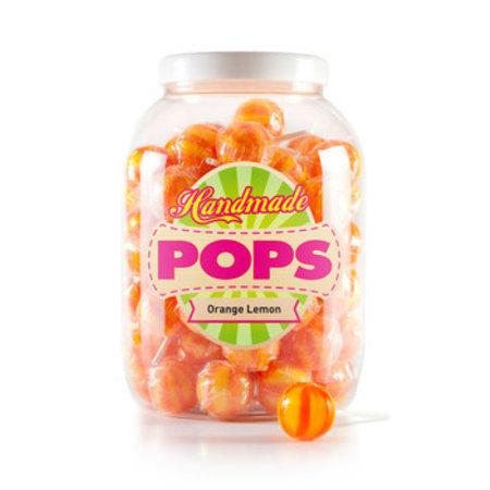 Handmade Pop Handmade Pop - pop-orange lemon lolly - 70 stuks