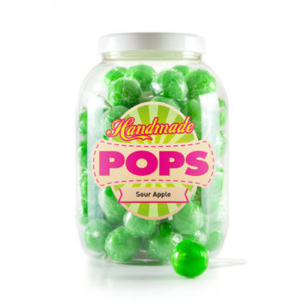 Handmade Pop Handmade Pop - Sour Apple Lolly, 70 Stuks