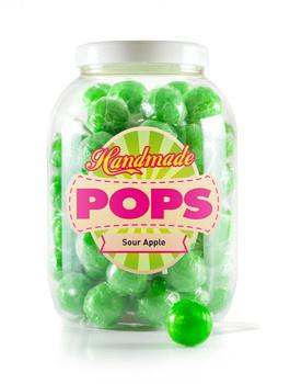 Handmade Pop Handmade Pop - pop-sour apple lolly - 70 stuks