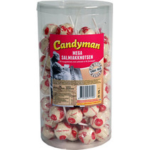 Candyman - Mega Salmiak Knotsen, 75 Stuks