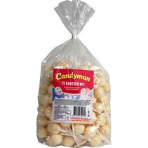 Candyman - tv lollie wit - 150 stuks