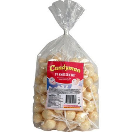 Candyman Candyman - Tv Lollie Wit, 150 Stuks