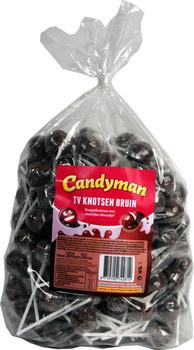 Candyman Candyman - Tv Lollie Bruin, 150 Stuks