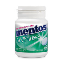 MENTOS - gum white green mint - 6 stuks