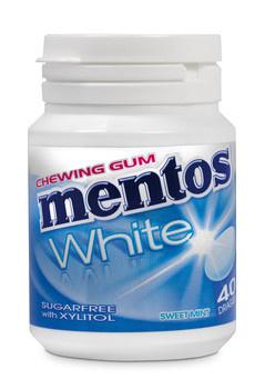 Mentos Mentos - Mentos Gum White Sweet Mint, 6 Stuks