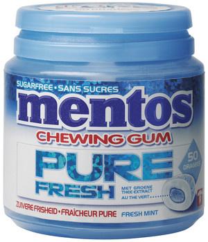 Mentos Mentos - Mentos Gum Pure Freshmint 50S, 8 Stuks