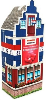 Holland Foodz Holland Foodz - snoephuisje kersenstokjes - 12 geschenkverpakkenkingen