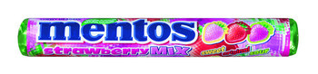 Mentos Mentos - Mentos Single Strawberry Mix, 40 Rollen