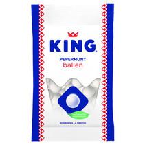 King - pepermuntballen 132g - 12 zakken