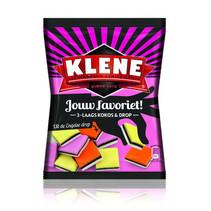Klene - kokos & drop 180g - 12 zakken