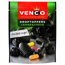 Venco - droptoppers lekker&stevig 255g- 10 zakken