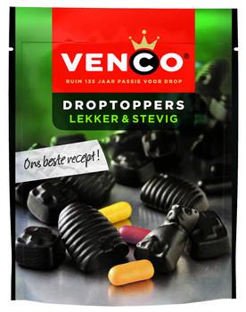 Venco Venco - droptoppers lekker&stevig 255g- 10 zakken