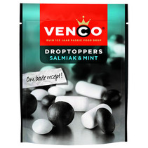 Venco - Droptoppers Salm.& Mint 255G, 10 Zakken