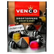 Venco - Droptoppers Zacht&Zoet 255G, 10 Zakken