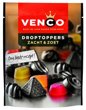 Venco Venco - droptoppers zacht&zoet 255g - 10 zakken