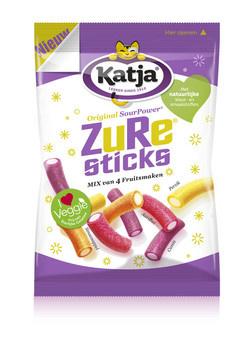 Katja Katja - zure sticks 275g - 12 zakken
