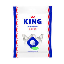 King - pepermuntballen 250gr - 12 zakken