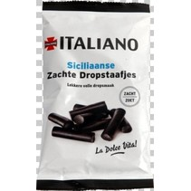 Italiano - sicil. zachte dropstaafjes 80g- 12 zakken
