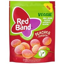 Red Band Venco - red band veggie peaches 150g - 10 zakken