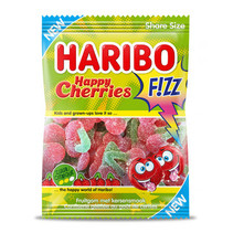 Haribo - happy cherries fizz 200gr - 14 zakken