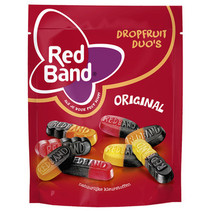 Red Band Venco - stazak drop fruit duo's 255g - 10 zakken