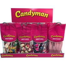 Candyman - pakken snoepzak 4srt 48st + rekje- 1 pakken