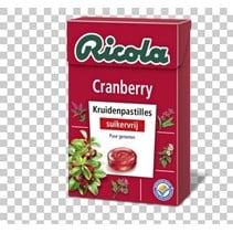 Ricola - cranberry s.v. 50gr - 20 dozen