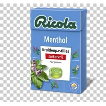 Ricola - Menthol S.V. 50G, 20 Dozen