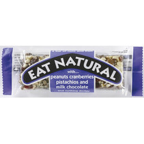 Eat Naturals - peanut,cranb,pistache,milkchoc- 12 repen