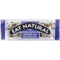 Eat Naturals - peanut,cranb,pistache,milkchoc- 12 repen